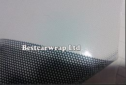 Wholesale Printed 3d Glasses - 1.37x50m White ONE WAY VISION Printable Perforated self adhesive vinyl Print Midea ECO SOLVENT VINYL FOR CAR   WINDOW GLASS