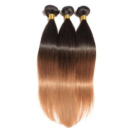 Wholesale 24inch Human Hair Weave - 2017 fashionable 4pcs lot high quality 16-24inch european human hair extensions straight dyed ombre remy hair 1b