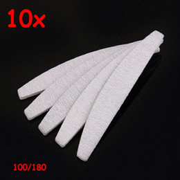 Wholesale File Good - 10PCS free eva japan sands paper sanding good quality manicure professional 100 180 grey zebra half moon nail file for salon
