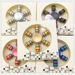 Wholesale Wholesale Tip Ups - 2017 New Up Hand Spinners Fidget Spinner Top Quality Hexagonal gyro Finger Spinning Top Colorful Decompression Fingers Tip Tops Toys