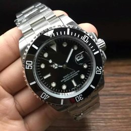 Wholesale Dive Watch Ceramic - Luxury mens watches Business brand automatic mechanical dive aaa quality watch ceramic bezel luminous stainless pointersteel Solid strap..