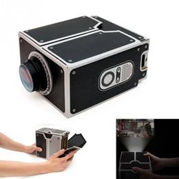 Wholesale Diy Smartphone - DIY 3D Projector Cardboard Mini Smartphone Projector Light Adjustable Mobile Phone Projector Portable Cinema In A Box
