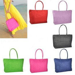 Wholesale Woven Handbags Summer - Wholesale-AUAU Hot New Design Straw Popular Summer Style Weave Woven Shoulder Tote Shopping Beach Bag Purse Handbag
