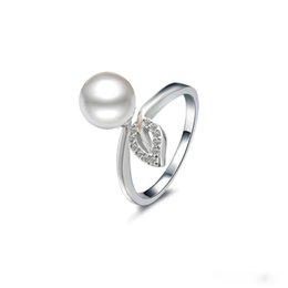 Wholesale Sterling Silver Freshwater Pearl Ring - 925 Sterling Silver Ring Fine Jewelry Classics Retro Entwined Freshwater Pearl Rings For Women Wedding Gift