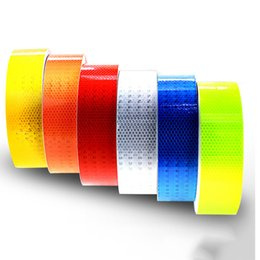Wholesale Cycling Stickers - 5cm Width Lattice Reflective Tape Stickers Car Styling Automobile VehicleTruck Motorcycle Cycling Warning Mark Strip DIY Decal