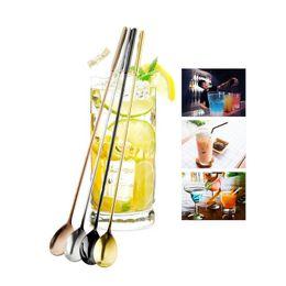 2019 shaker de coquetel grátis 305mm Longo Aço Inoxidável Colher De Mistura Cocktail Shaker Colher Preto Rosa Dourado Bar Acessórios Frete Grátis ZA4358 shaker de coquetel grátis barato