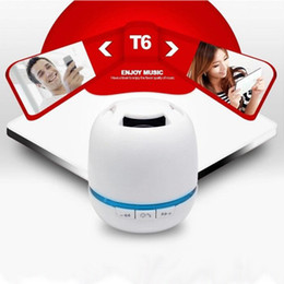 Canada T6 Bluetooth haut-parleur de haute qualité de haut-parleur de pilule portable avec fente pour carte TF sans fil Bluetooth MINI Music Box boîte de vente au détail de soundbar Offre