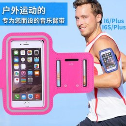 Wholesale Sport Gym Running Armband Protector - Sport Gym Running Armband Protector Belt Soft Running Bag Sport Arm Band Case For iPhone 8 7 Plus 6 6S 5 5S Samsung S7 S6 Note 5