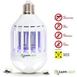 Wholesale High Power Led Screw - Zapp Light Dual LED Lightbulb Screw Mouth High Power LED Round Head Energy-saving Zapp Light Bulb Kill Mosquitos LJJC5929 60pcs