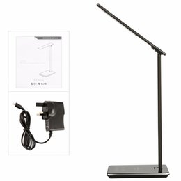 Wholesale Hot Selling Bedding - Hot selling LED Desk Lamp Table lights Folding Eye-friendly 4Light Color Temperature Book Light with Wireless Desktop Charger
