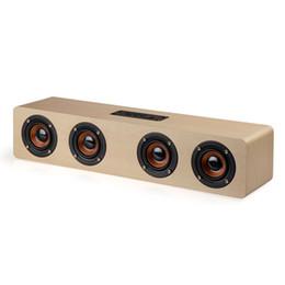 Wholesale Wireless Soundbar Speaker - Home Hand Free Calling Wireless Long Bookshelf Wholesale Surround Sound Wood TV Bluetooth Soundbar Speaker for Laptop , Phone , Pad , PC
