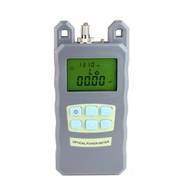 Wholesale Network Cable Tester Meter - High Presion Portable Adjustable Fiber Optical Power Meter Cable Tester Networks FC SC connectors -70~+10dBm 5pcs lot Free Shipping