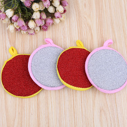 Wholesale Microfiber Dish Towels Wholesale - sponge dishclout bowl microfiber cleaning cloth waffle weave kitchen towels dish washing cooking tools
