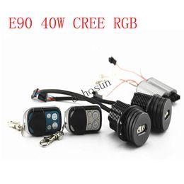 Wholesale Bmw 328i - 2pc X RGB LED Angel Eye 20W per bulb 40W kit E90 E91 for BMW 325i, 325xi, 328i, 328xi, 330i, 335i, 335xi