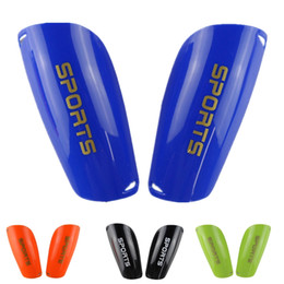Wholesale Football Padding - High Quality Professional Sports Soccer Shin Guards Football Leg Pads Goalkeeper Training thick Knee Pads Protector Shin Guards