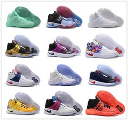 Wholesale Body Art Free Nude - 2017 Cheap Sale Kyrie Irving Mens Basketball Shoes 2 Sports Training Sneakers Size 40-46 Free Shipping