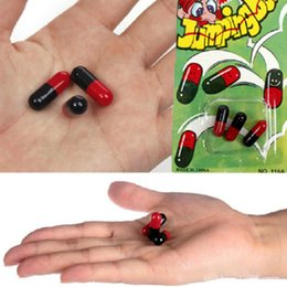 Wholesale Sets Jumping Beans - Wholesale-Novelty 3Pcs set Funny Jumping Beans Toy Tricky Toys Practical Jokes Children's Gift Joke Toy Comedy Magic Funny Toys