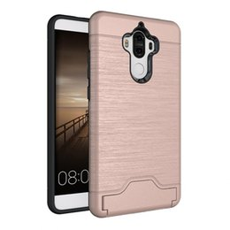 Wholesale Chinese Combo - CDD Back Cover for Hua Wei Mate9 P10 Plus Cell Phone Case with Card Slot TPU + PC Combo Case