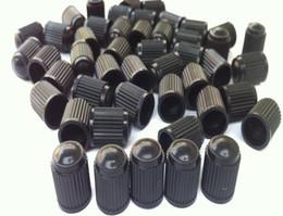 Wholesale Wholesale Car Dust Caps - motor caps Black Plastic Dust Valve Caps Bike Car Wheel Tyre Van Covers Seal Air Motorcycle for schrader valve 1000pcs