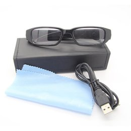 Wholesale Video Cameras Pictures - Spy Eyewear Glasses Camera HD 1080P Hidden Spy Camera Glasses Mini Camcorder 5.0 Mega pixels Support Taking Picture Video Recorder