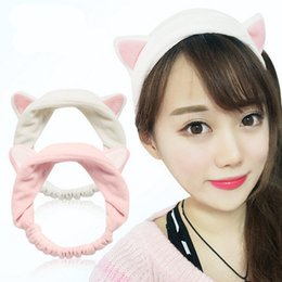 Wholesale Hairdo Hair - Wholesale- Korean Hair Decorate Run Male With A Cat Ears Hairdo Bring Hair Hoop maquiagem diagnostic-tool bathroom banheiro females makecup