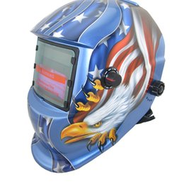 Wholesale Cheap Welding Helmet - USA Flag Cheap outside control darkening area DIN7-12 Solar auto darkening welding helmets welder mask eyes glasses goggles for TIG MMA MIG