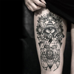Wholesale Exotic Body Stickers - Wholesale- 2PC Sexy 3D Waterproof Temporary Tattoo Stickers 21*15cm Men and Women Girl Arm Body Art Beauty Exotic Makeup Sticker Tattoo