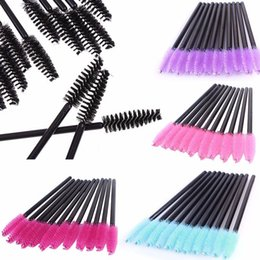 Wholesale Ladies Gift Sets Wholesale - Makeup Tool 50Pcs Disposable Eyelash Makeup Brushes Cosmetic Mascara Brush Wands Applicator for lady gifts