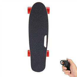 Wholesale Green Engines - 2017 Latest Electric Skateboard With Wireless Bluetooth Remote Control Scooter Longboard Kit Motorized Engine Hub Skate Board One Motor