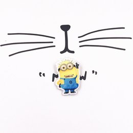 Wholesale China Jeans Free Shipping - MOQ=20pcs Free Shipping Kawaii Lovely Minions Acrylic Brooch Badge Pins Decoration Cartoon Icon Wrap Jeans Brooch Pins For Woman man Gifts
