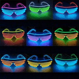 Wholesale Led Glasses For Dancing - LED Light Glasses Quick Flashing EL LED Glasses Sound Control Luminous Party Lighting Colorful Glowing Toys for Dance DJ Party Wholesale