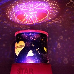 Wholesale Wholesale Unique Gift Novelties - Wholesale- Magic Romantic LED Star Master Projector, Novelty Creative Battery USB Night Light Lamp, Unique Gift for Kids Children or Lover