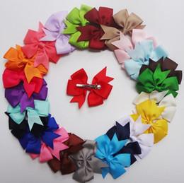 Wholesale Grosgrain Hair Ribbons - 24Pcs Girl Grosgrain Ribbon Boutique Hair Bows For Teens New Girls born Kids Hair Accessories Headwear xth068Big
