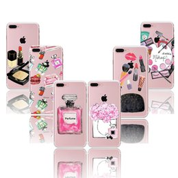 Wholesale Tpu Crystal Shell - For iphone 7 cases fashion girl make ups painting for iphone 5S 6S 7 plus cases Crystal soft TPU ultra thin silicone back cover shell case