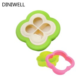 Wholesale Bento Shape - Creative Home Kitchen supplies DIY Clovers Shape Sandwich Cake Toast Bread Biscuit Bento Maker Sushi Mold Cutter Tool