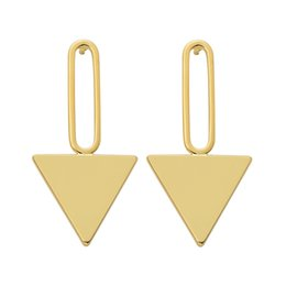 Wholesale Gold Filled Jewelry Prices - YC Top Quality Earrings Copper Geometry Triangle 14 k Gold Dangle Earrings Women's Stud Jewelry Original Creative Design Factory Price