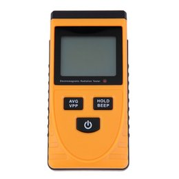 Wholesale Radiation Detector Tester - Wholesale- New Digital LCD Sound-light Alarm Electromagnetic Radiation Detector Bimodule Synchronous Test Meter Dosimeter Tester Counter