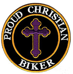 Wholesale t shat - Hot Sale! PROUD CHRISTIAN BIKER EMBROIDERED PATCH IRON SWE ON T-shit OR JACKET BAG HAT CAP ECT HIGH QUANLITY