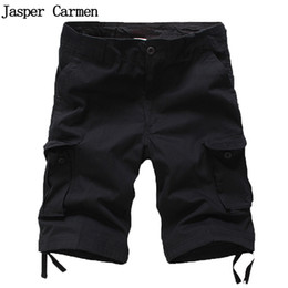 Wholesale Wholesale Clothes For Big Men - Wholesale- 2017 Summer Big Size Casual Men Tooling Shorts Mens Overalls Shorts for Men Men's Clothing Multi Pockets cotton shorts 50wy