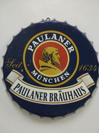 Paulaner Brauhaus Vintage круглый олово знак крышка от бутылки дизайн крышка от пива пиво металлический бар плакат металлический корабль для домашнего бара ресторан кафе магазин от