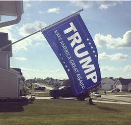 Wholesale great indoors - 90*150cm Donald Trump 3x5 Foot Flag 2016 Make America Great Again Donald for President Indoor Outdoor Banner By DHL Free Shipping