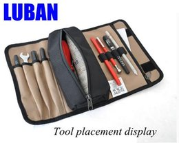 Wholesale Wholesale Small Tool Kits - Wholesale-Small tool pouch wear thick waterproof canvas versatile tool bag electrician drum kit wholesale