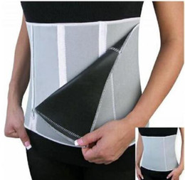 Wholesale Belly Belt For Men - 1pc New Adjustable Sauna Slimming Waist Belt Burn Belly Fitness Body Fat Cellulite Burner Shaper For Women Men 5 Zippers Wrap