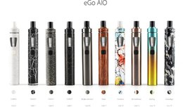 Wholesale Ego Led Lights - EGo AIO Kit All-in-one Style Device with 1500mAh Battery and 2ml e Liquid illumination LED Light 10 New Colors New Package