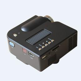 Canada Vente en gros - UNIC UC28 + VENTE CHAUDE! Mini projecteur de jeu mené portatif portatif de poche du cinéma 1080i à la maison avec la fonction d'USB / SD, ROHS Offre