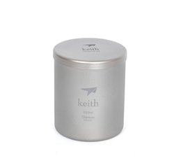Wholesale Pounds Cups - Keith Ti3301 Titanium Cup Mug Double-wall Vacuum Water Cup Outdoor Picnic Cookware Outdoor Tableware Ti80 92g 220ml