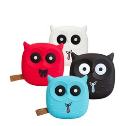 Wholesale Bank Power Iphone Cute - Cute Cartoon Owl Power Bank Portable Charger Battery For Iphone Mobile Cell Phone Small Battery Charger Powerbank