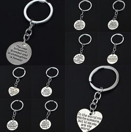 Wholesale Stainless Steel Men S Cross - High quality Family affection engraved key holder Key ring Hot Mother 's Day gift KR007 Keychains mix order 20 pieces a lot
