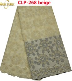 Wholesale Dry Laces - Fashion Cotton Swiss Lace Fabric With Stone Nigerian Embroidered Swiss Dry Lace Fabric Swiss Lace Fabric CLP-268