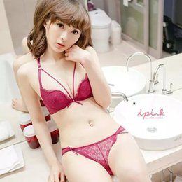 6d76f695730 Sexy Bandage Bra Set Women Lace Briefs Bra Underwear Padded Lingerie Outfit  Set